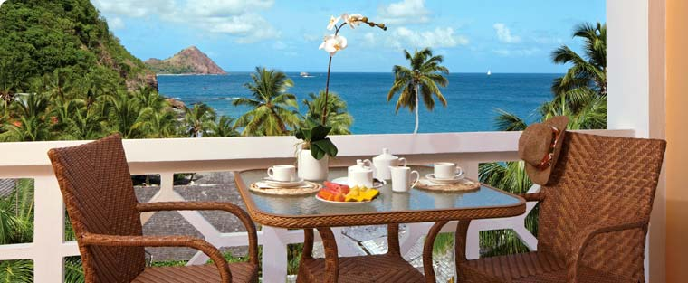 ocean view room in st. lucia