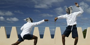 Fencing in St Lucia, Caribbean