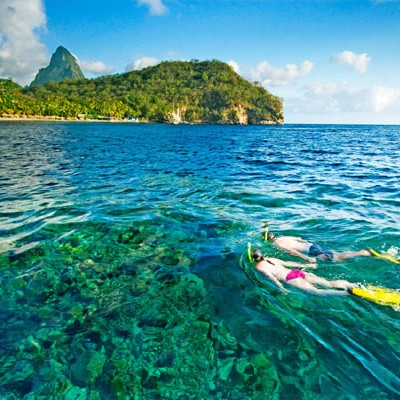 Snorkellers St. Lucia