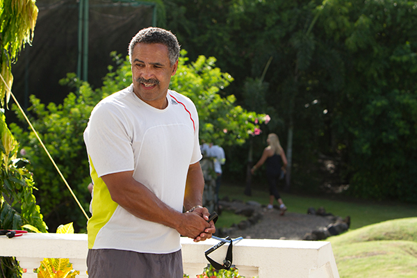 Daley-Thompson workout at St.Lucia Resort Caribbean Island