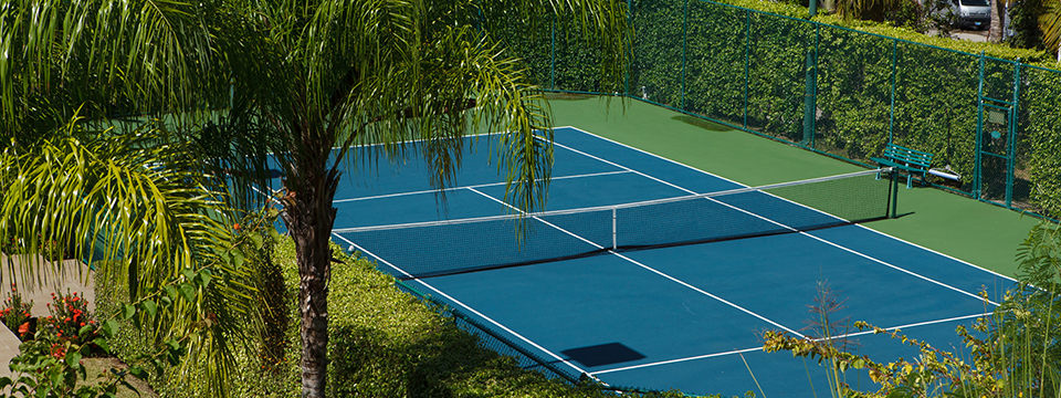 Tennis Court in St Lucia