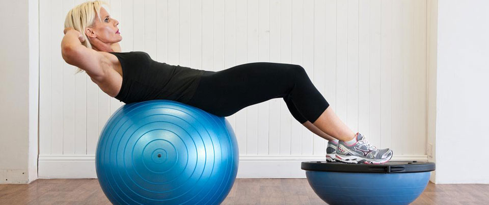 Exercise with Fitness Ball