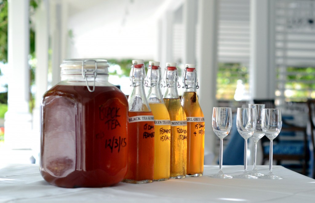Bottles of Kombucha tea at BodyHoliday