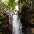 Rappelling in St Lucia