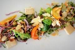 Organic salad at BodyHoliday