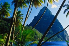 View of Pitons