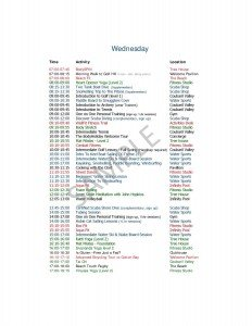 Wednesday Activities at Body Holiday