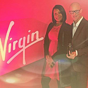 "Andrew Barnard Receiving "" Best in the Caribbean"" from Virgin"