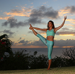 Yoga at Dusk in St Lucia