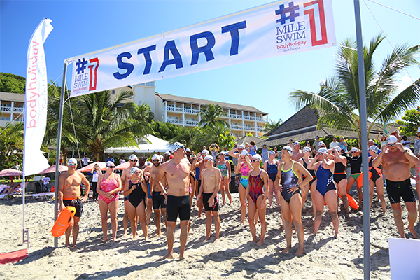 One Mile Swim Event Start