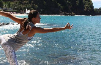 Asana at the BodyHoliday in the Caribbean, with classes for all levels.