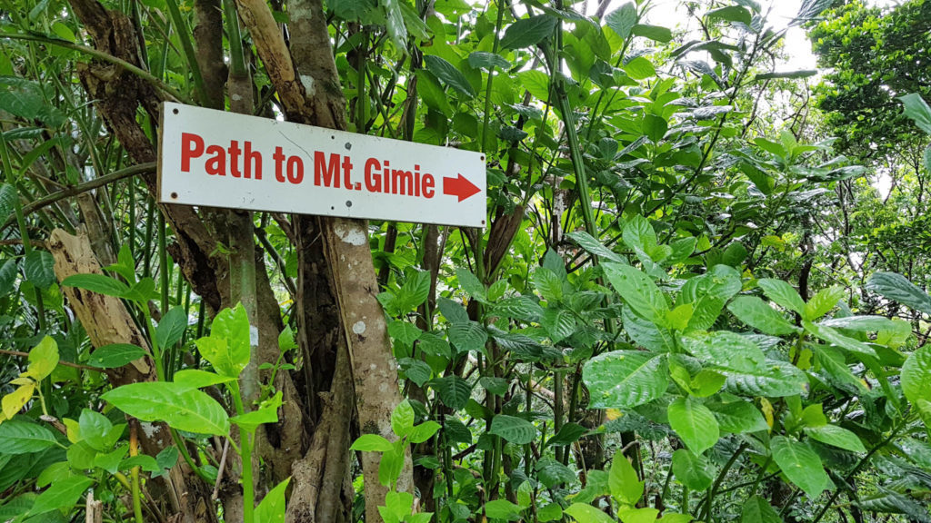 Path to Mt. Gimie