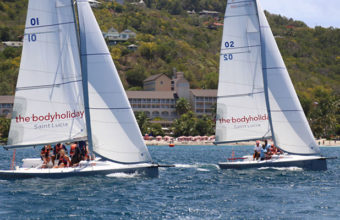 Xtreme 26 sailing with champions at BodyHoliday Saint Lucia