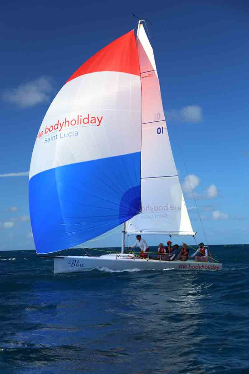 Spinnakers flying at BodyHoliday